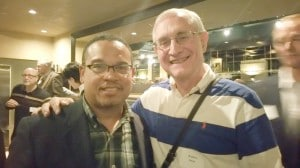 Wally Swan with Keith Ellison, , Member, United States House of Representatives
