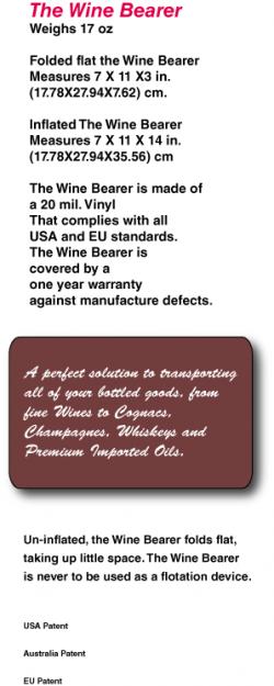 Wine Bearer, the Premium in travel Bottle Protection.