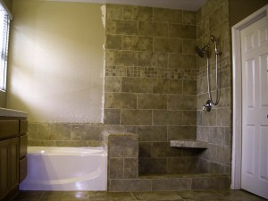 Women in Construction newly completed bathroom in Carmel Valley