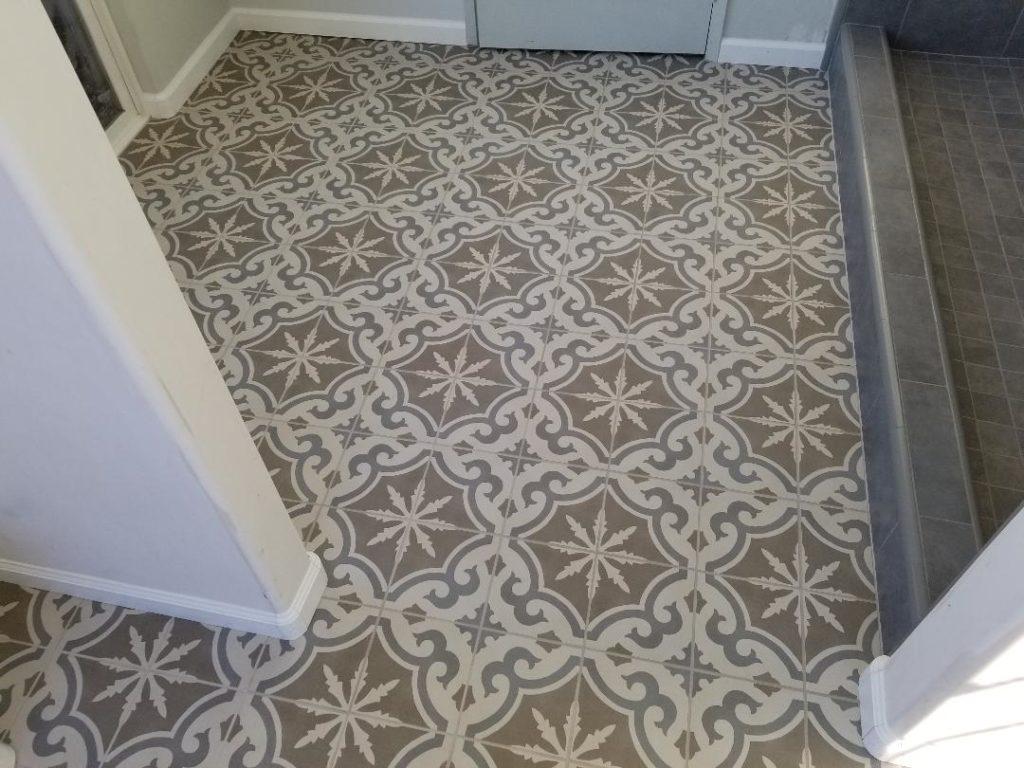 Bathroom Floor Opposite Toilet