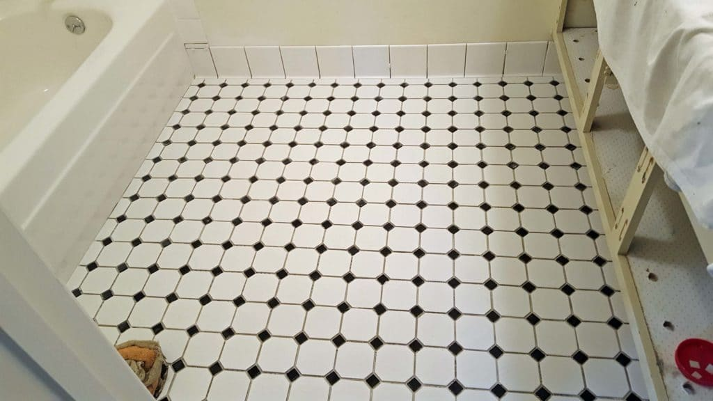 Tile Floor With Tile Base